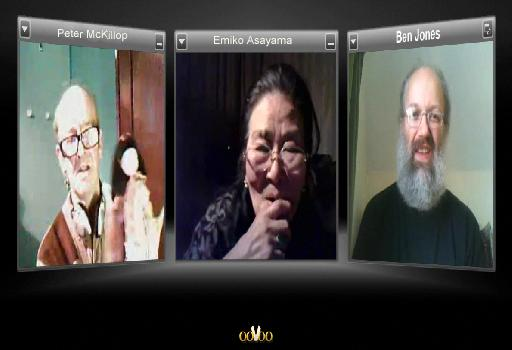 Peter and Emiko conversing online via ooVoo